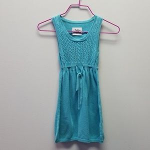 Justice Girls Blue Sweater Dress size 7